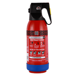 2 kg MS Sp Red (Gun Housing) ABC Powder-Based Portable & Wheeled Extinguisher Map 90