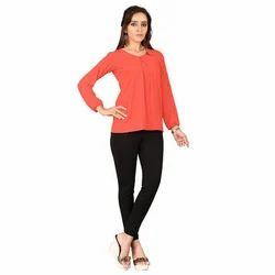 Ladies Plain 3/4 Sleeve Tops