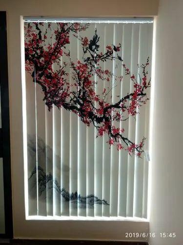 Vertical Window Blinds Printed