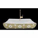 Goldeer Printed Table Top Wash Basin