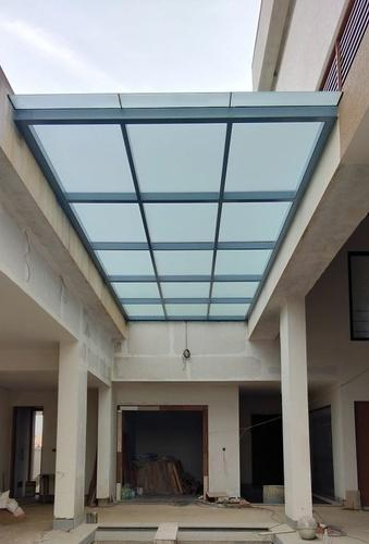 Rectangle Pergola Glass Roof Rs 1650 Square Feet Ss