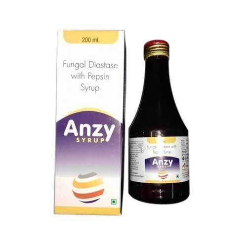Anzy Fungal Diastase With Pepsin Syrup, Packaging Type: Bottle and Box