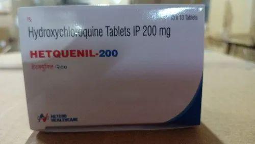 HETQUENIL-200 Tablets (Hydroxychloroquine (200mg) Hetero Health Care