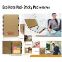Eco Note Pad- Sticky Pad With Pen