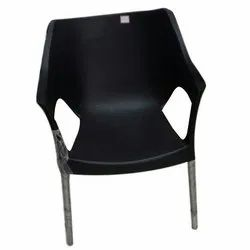 Black Designer Plastic Chair