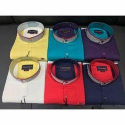 Variation Cotton Stylish Plain Shirt, Size: L And Xl