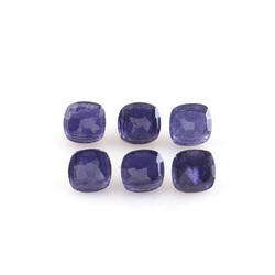 Natural Iolite Faceted Buttons Handmade