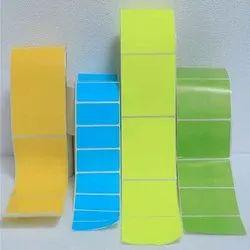 Paper Colour Neon Bar Code Label