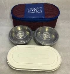 2 SS Container and 1 Oval Container