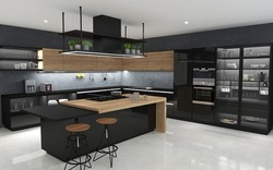 L Shape Residential Modular Kitchen Service