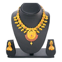 Brass traditional Earring Necklace Set