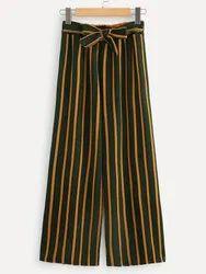 Ladies Printed Striped Palazzo Pants