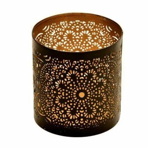 Votive Holder Metal Tealight Votive Candle Holder Black Gold Finish Manufacturer From Moradabad