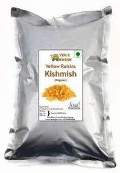 Veg E Wagon Yellow Kishmish (Raisins) Regular 1 Kg Raisins (1 kg, Vacuum Pack)