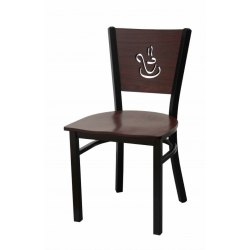 Brown Cafe Wooden Plain Study Chair