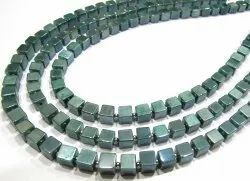 Natural Moonstone AB Mystic Coated 6-7mm Emerald Green Color Plain Beads