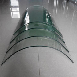 Transparent Curve Bending Toughened Glass, Thickness: 6 - 19 mm