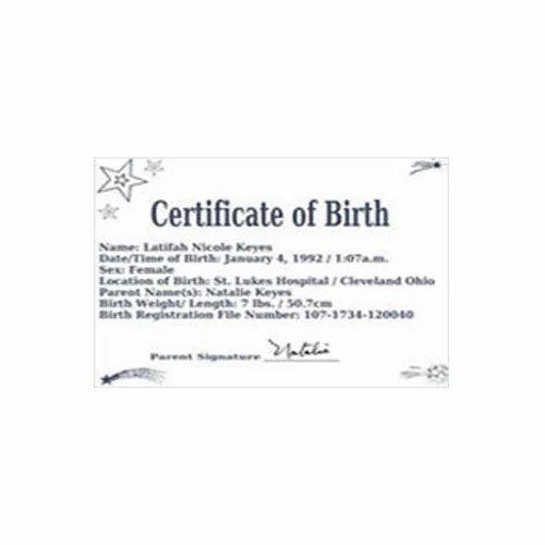 Birth Certificate Translation Service, जन्म प्रमाणपत्र के