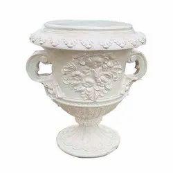 White Fiber Flower Vase