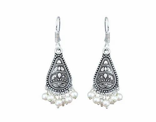 1210e2ba3243a Beautiful Pearl Silver Plated Dangle & Drop Earrings (black)