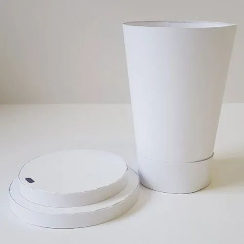 White Plain Paper Coffee Cup