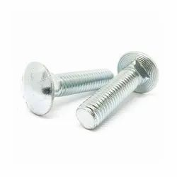 Din 603 Silver Carriage Bolts, Size: M6-m24