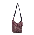 Maroon Cotton Jacquard Multicolor Shoulder Bag