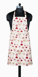 White Printed Apron