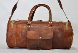78124ef9eb2d Brown Luggage Leather Duffle Gym Bag