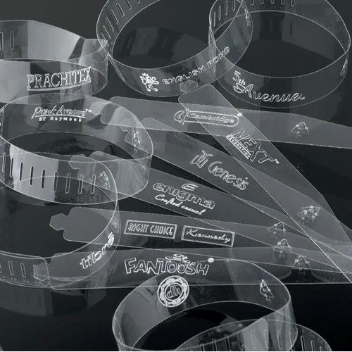 Transparent Plastic Collar Bands, For Shirt Packing