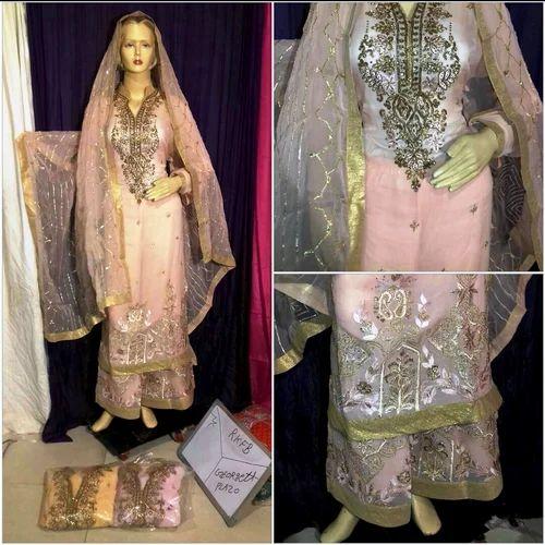 72a0dd768a Wedding Wear XL Georgette Sharara Suit