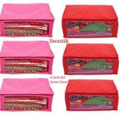 Swastik Handicraft Non-Woven Zipper Bag Saree cover