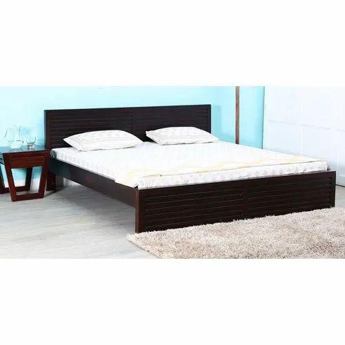 Black Regular Design Solid Wood Queen Size Bed For Bedroom Rs 22999 Piece Id 14823658248