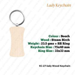Wooden Keychain-KC-27-Lady