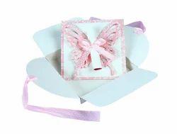 Butterfly Scroll Handmade Birthday Party Invitations 6 Pcs