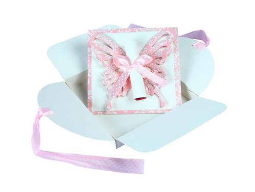 butterfly scroll handmade birthday party invitations 6 pcs at rs