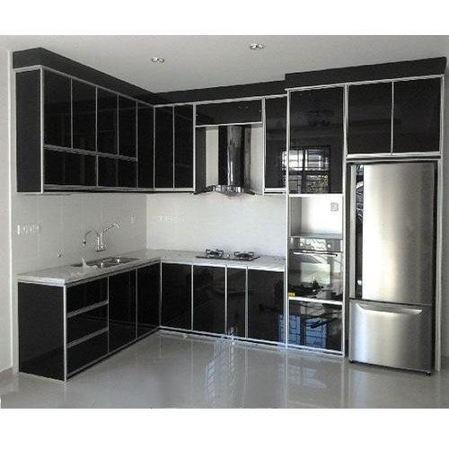Black Aluminium Kitchen Cabinet, Rs 450 /square Feet