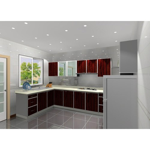 Aluminium Modular Kitchen At Rs 1100 Square Feet: Aluminium Kitchen Cabinet At Rs 1600 /square Feet
