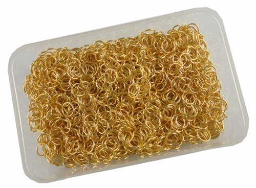 Eshoppee 100 Gm Gold Color Metal Jump Ring For Jewellery Making Fitting And Findings