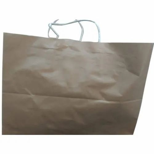 Loop Handle Brown Paper Bag