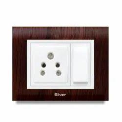 Grey Wood Modular Switch Board