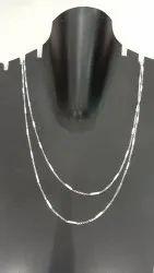 Silver Neck Chain, Size: 18 & 20
