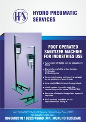 FOOT OPERATED HAND SANITIZER MACHINE