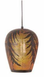 Antique Bell Shaped Golden Black Arabic Light