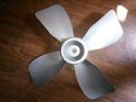 Grey Plastic 15 Inch Fan Blade