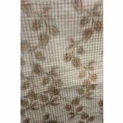 Grey Rose Silk Jacquard Fabric