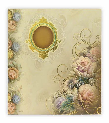 Book Style Royal Designer Wedding Card 4524 Rs 38 Piece Id