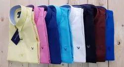 Cotton Party Wear Men's Plain Shirt