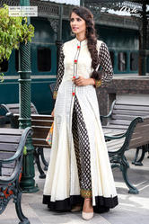 Shirt Type Kurti With Cigarette Pants