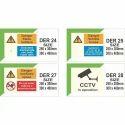 Night Glow Acrylic Engine Room Safety Signage, Thickness: 1 - 3 Mm, Shape: Rectangle